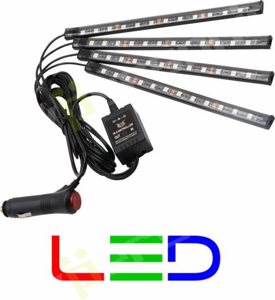 Hypersonic Car Atmosphere Light 4 LED Strip Total 72 LED Multi color Car Fancy Lights