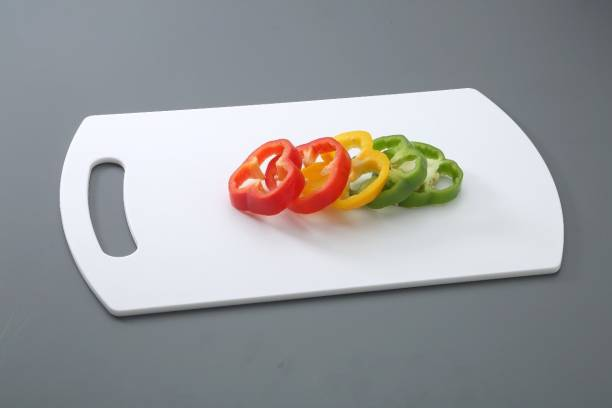 AKSHAR Vegetable & Fruits Chopping Board Large Plastic Chopping Board Plastic Cutting Board By Amar Impex (White Pack of 1) Plastic Cutting Board