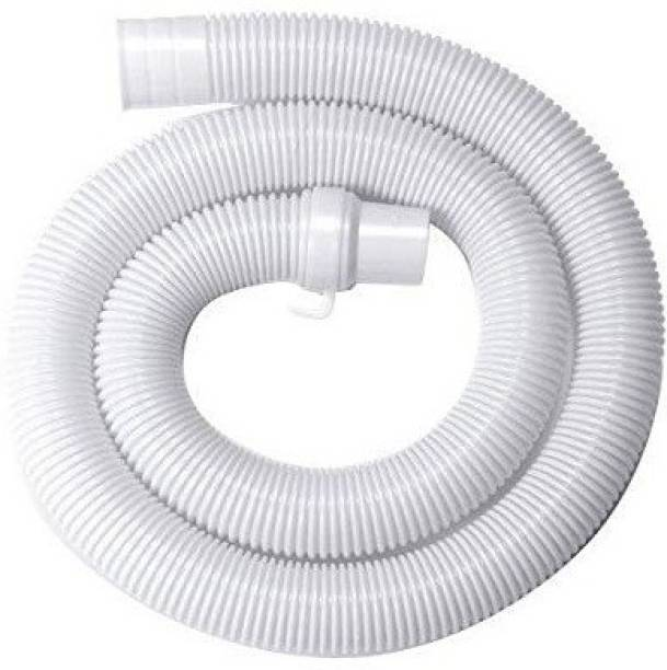 Kindle 2 Meter Washing machine Outlet pipe Corrugated Plastic Outlet/Drain/Extension Hose Suitable for All Fully/Semi Automatic Washing Machines Outlet (Length: 2 Meter, White) Hose Pipe