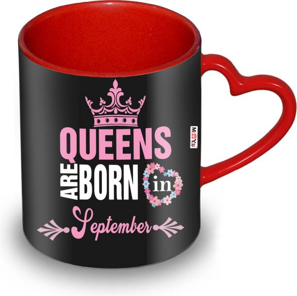 ME&YOU Queens are born in September Ceramic Coffee Mug