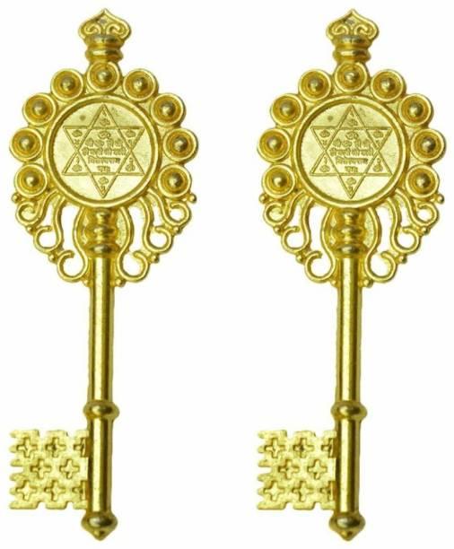 Bansiwal Vastu Fengshui Kuber Kunji Key Golden for Money Decorative Showpiece  -  10 cm