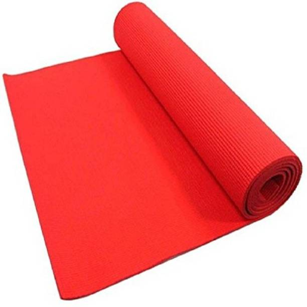 SINGHS VILLAS DECOR Eco Friendly Mat, Exercise & Gym Mat With Bag Blue 4 mm Yoga Mat, Outdoor Red 4 mm mm Yoga Mat