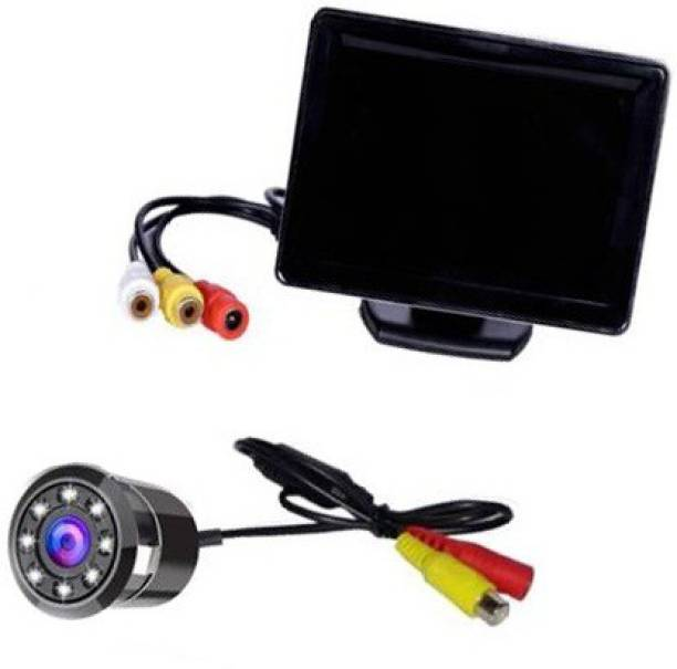 Autoxygen Vehicle Camera System 4.3 inch Rear View Full HD Dashboard Screen and 8 LED Night Vision Waterproof Reserve Parking Camera K_006 Vehicle Camera System