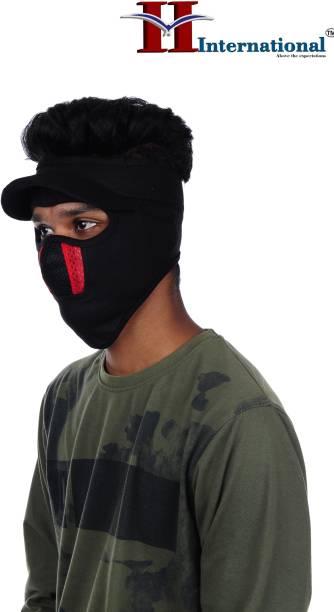 H International Black Bike Face Mask for Men & Women
