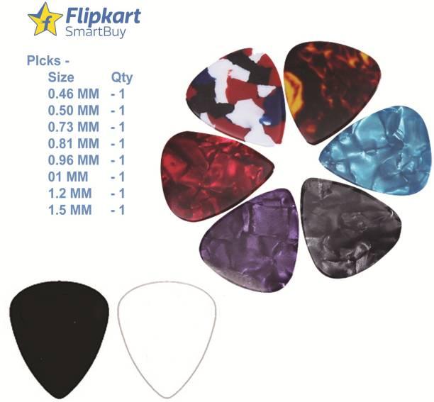 Flipkart SmartBuy AGP-20 Pack of 8 ( 0.46,0.50,0.73,0.81,0.96,01,1.2,1.5MM) Guitar Pick