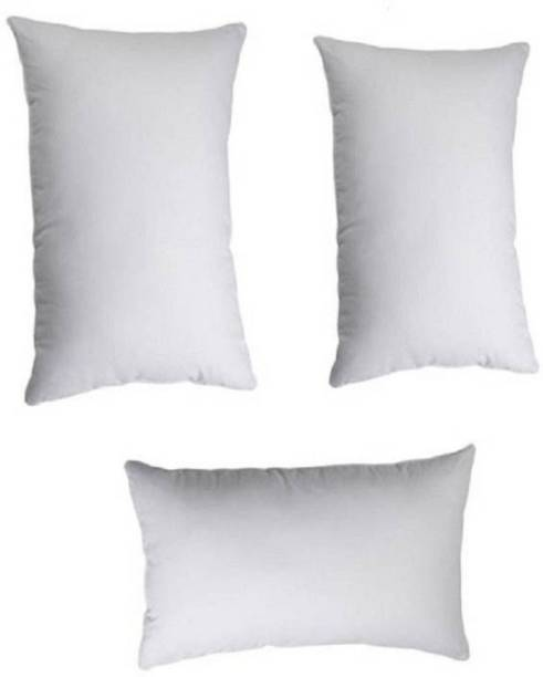 Zarglic Polyester Fibre Solid Sleeping Pillow Pack of 3