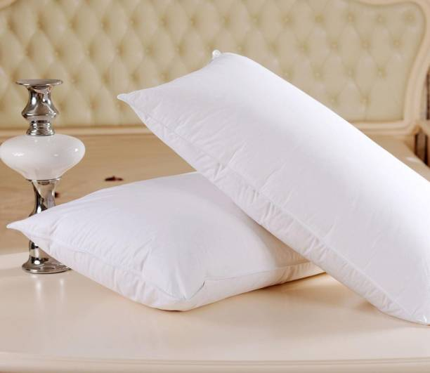 JDX Cotton Solid Sleeping Pillow Pack of 2