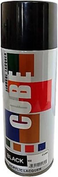 CUBE Black Glossy Spray Paint 600 ml