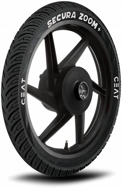 CEAT 80/100-18 SECURA ZOOM+ TUBELESS TYRE FOR TWO WHEELER BIKES 80/100-18 Rear Tyre