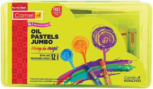 Camel Jumbo Oil Pastels 12 Shades