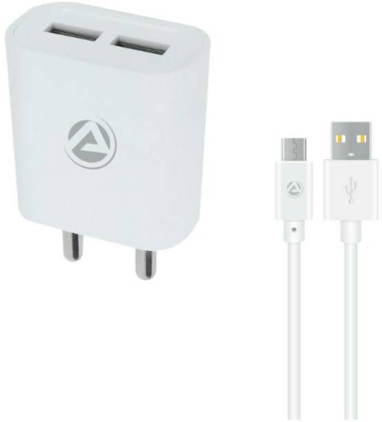 ARU AR-211 Dual Port 2.4 A 12 W 2.4 A Multiport Mobile Charger with Detachable Cable