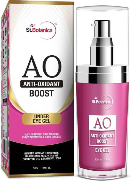 StBotanica Anti Oxidant Boost Eye Gel, 30ml - Anti Wrinkle, Skin Firming