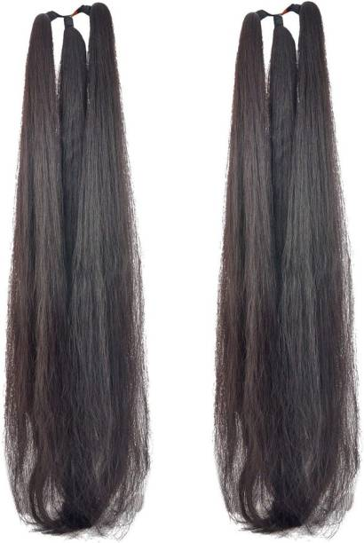 BELLA HARARO Women's Thick Nylon False  Extension, 26 inch (Black) Pack of OF 2 Hair Extension