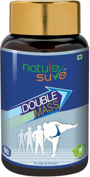 Nature Sure Double Mass Tablets for Men and Women – 1 Pack (90 Tablets) Weight Gainers/Mass Gainers