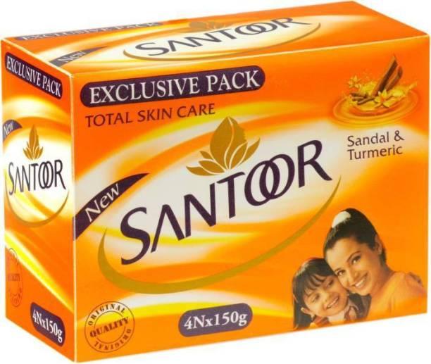 santoor sandal & turmeric 150 gm (pack of 4)