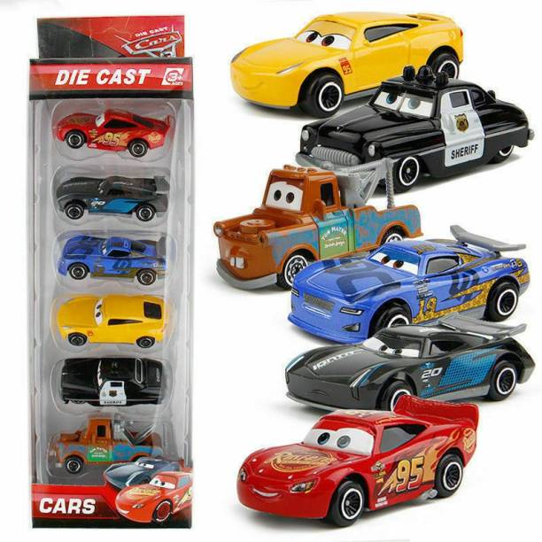 Bestie Toys 6 Pcs Cars Lighting McQueen Mater Diecast Model Vehicle