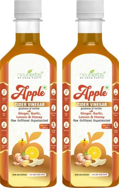 Neuherbs Apple Cider Vinegar with Ginger, Garlic,Lemon & Honey Vinegar Vinegar