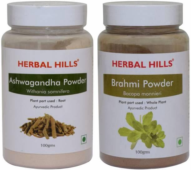 Herbal Hills Ashwagandha and Brahmi Powder 100