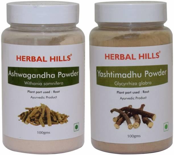 Herbal Hills Ashwagandha and Yashtimadhu Powder 100