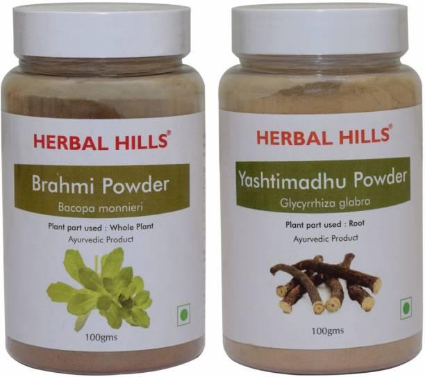 Herbal Hills Brahmi and Yashtimadhu Powder 100
