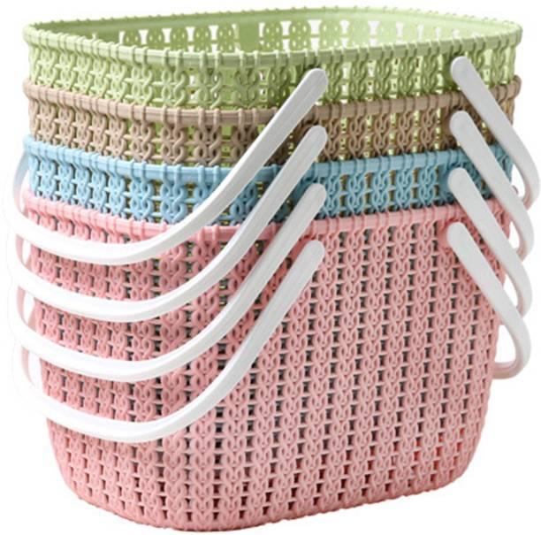 TIED RIBBONS Plastic Basket for Storage Storage Basket