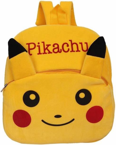 BlingNBeats PIKACHU Velvet School Bag - 2 to 5 Age - School Bag Plush Bag