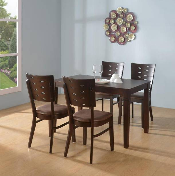 @Home by nilkamal Fern Solid Wood 4 Seater Dining Set