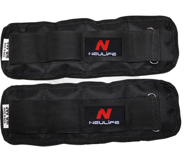Neulife Adjustable Ankle Weight 500 Grm Pair Black Ankle & Wrist Weight