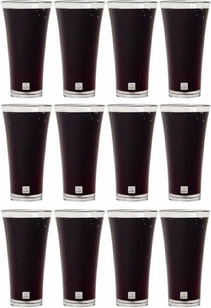 swift international (Pack of 12) 12 Polycarbonate Party Glass set (200 ml) Glass Set