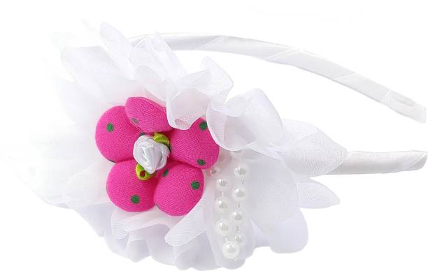 One Personal Care Adorable Pearl Studded Blooming Flower Inspired Occasion/Party Wear Hair Accessory Set