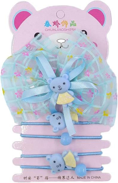 One Personal Care Cute & Fancy, Bow & Teddy Inspired, Toddler's Occasion/Party Wear Hair Accessory Set