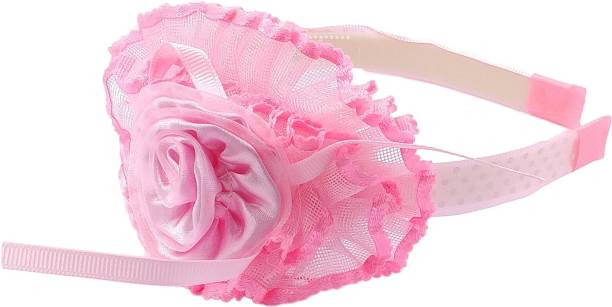 One Personal Care Pretty & Fancy Netted Design Flower & Ribbons Inspired, Occasion/Party Wear Hair Accessory Set