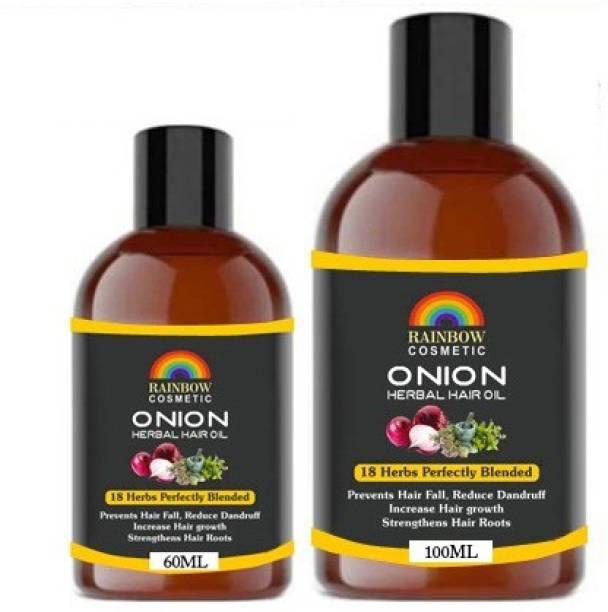 RAINBOW 100% Pure & Natural ONION Herbal  Hair Oil