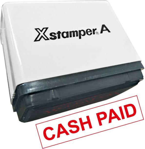 x stamper CASH PAID STAMP SELF INKING