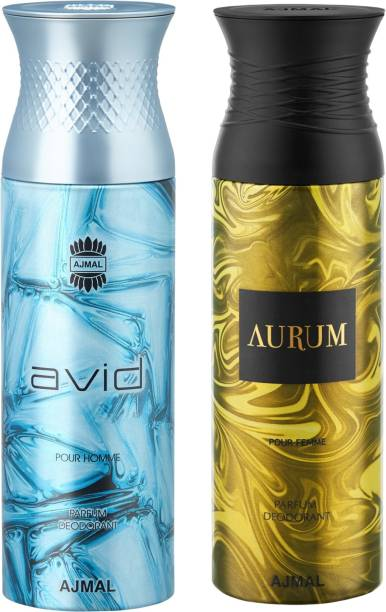 AJMAL Avid & Aurum Deodorants + 2 Testers Deodorant Spray  -  For Men & Women