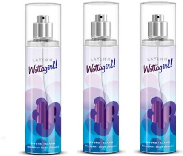 LAYER'R Layerr Wottagirl Mystic Island Combo of 3 pieces Deodorant Spray  -  For Women