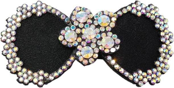 One Personal Care Diamond Studded Bow Inspired Pretty & Fancy, Adorable Occasion Wear Hair Accessory Set