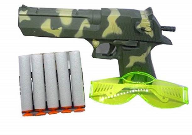 IMSZZ TRADING PUBG THEME MINI MILITARY SOFT BULLET GUN FOR KIDS Guns & Darts