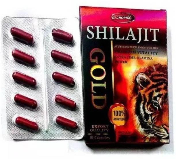 Dr Chopra shilajit gold capsules 100% ayurvedic 10 nos