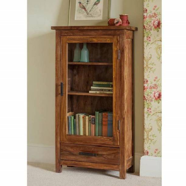 the brown wynk Solid Wood Close Book Shelf
