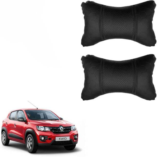 KANDID Black Leatherite Car Pillow Cushion for Renault
