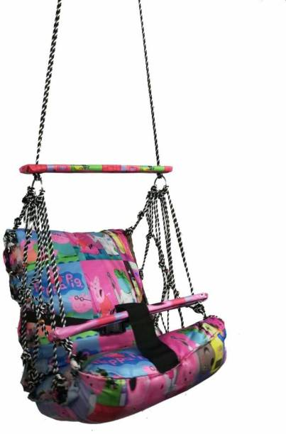 Mantavya Cotton Hanging Home Swing for Baby Cotton Hammock