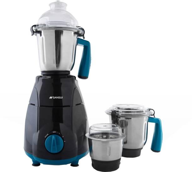 Sansui ProHome SMG02 750 W Mixer Grinder (3 Jars, Blue, Black)
