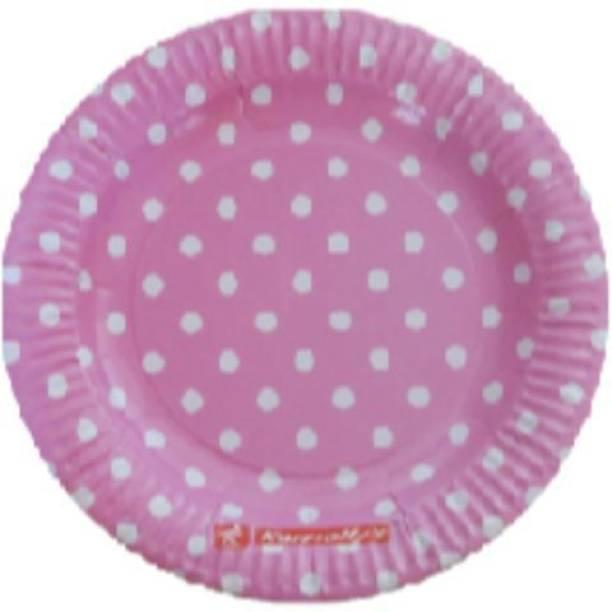 Smartcraft Polka Dot Plates Pink Dinner Plate