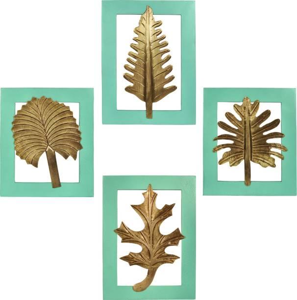 Lal Haveli Wall Decorative Wooden Leaf Decorative Showpiece  -  33 cm