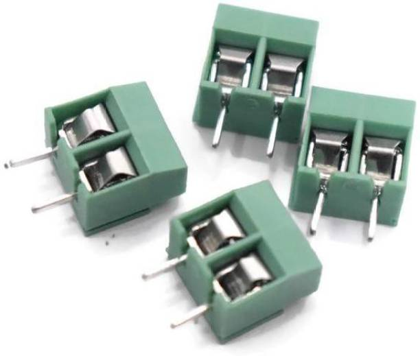 Electronicspices Copper Terminal Block Wire Connector (Green) 10 Pieces interconnect Wire Connector