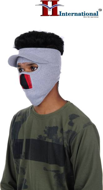 H International Grey Bike Face Mask for Men & Women