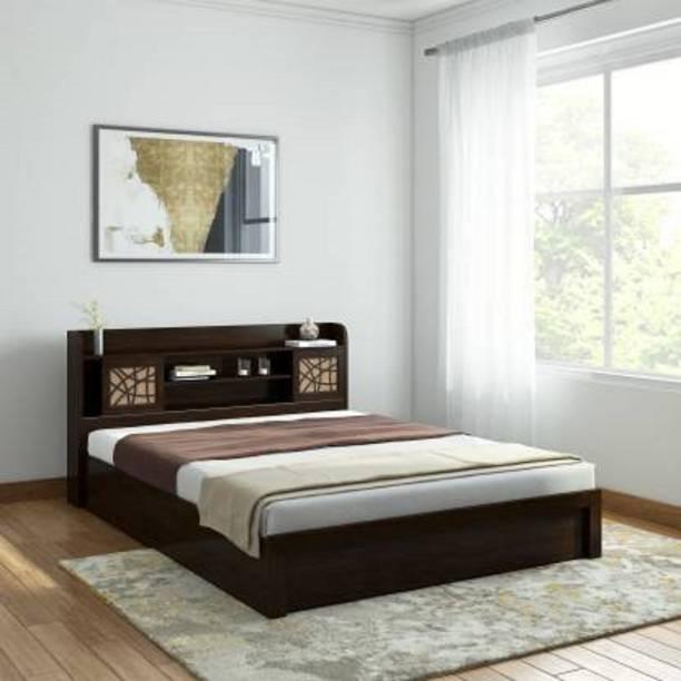 VISHAL Engineered Wood Queen Bed