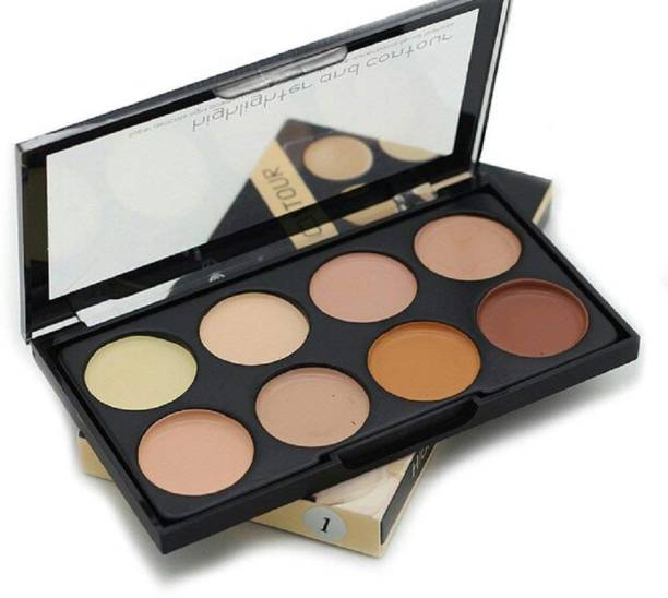 BELLA HARARO Highlighter and Contour 8 Shades Concealer Palette Highlighter