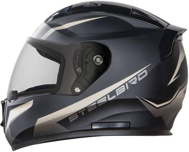 Steelbird SA-1 Whif Matt Black D.Storm in Plain Visor Motorbike Helmet